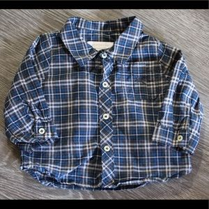 BURBERRY Baby Boy Button Down Shirt 3m